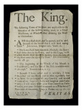 Broadsheet Discussing the Madness of King George Iii  1788