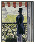 Man on a Balcony  Boulevard Haussmann  1880