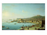 View of Naples with the Castel Nuovo