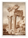 The Temple of Jupiter Tonans  Ruins  1833