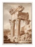 The Temple of Jupiter Tonans  Ruins  1833