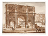View of the Arch of Constantine  1833