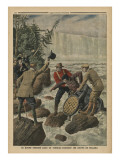 A Man in a Barrel Crossing the Niagara Falls
