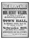 Poster Calling a Meeting to Discuss the Nebraska Bill  1854