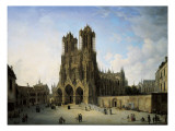 The Southwest Wing of the Cathedral in Reims  1826