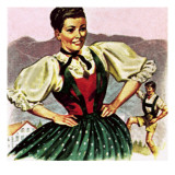 Girl in the Costume of the Austrian Tyrol