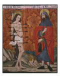 St Sebastian and St James the Great  Panel