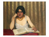 Reader with a Yellow Necklace  1912