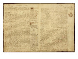 A Page from the Codex Leicester  1508-12