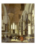 The Interior of the Oude Kerk  Amsterdam