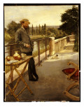 An Elegant Man on a Terrace  1885