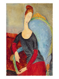 Mme Hebuterne in a Blue Chair  1918
