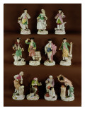 Eleven Figures of Craftsmen  1745
