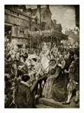 Mary Queen of Scots Enters Edinburgh  1561