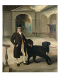 Coachman with Newfoundland Dog