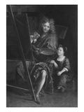 Self Portrait with His Son Charles