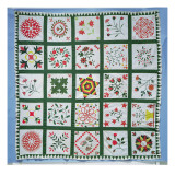 Album Quilt with Season Flowers  1844
