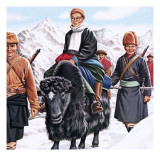The Young Dalai Lama Fleeing the Chinese Giclée par John Keay