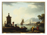 A View of the Harbour at Genoa  1773