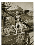 Captain Cook Approaching New Zealand