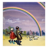 R for Rainbow  Illustration from 'Treasure'  1963