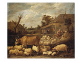 A Shepherd and His Flock by a Tavern