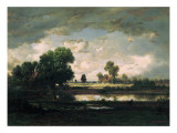 The Pool with a Stormy Sky  C1865-7