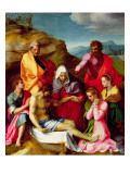 Deposition with Virgin Mary and Saints  1523-24
