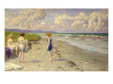 Girls Preparing to Bathe on the Beach