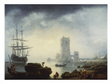 A Mediterranean Harbour Scene: Morning  1745