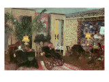 Interior Or  the Salon with Three Lamps  1899