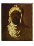 An African Wearing a Turban - a Sketch