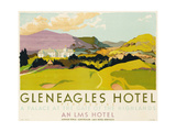 Gleneagles Hotel  Poster Advertising the Lms  1924
