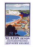 Seaton  Devon  Poster Advertising Southern Railway