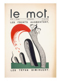 Front Cover of &#39;Le Mot  15th June 1915