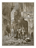 A Street in London During the Great Plague