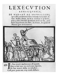 Execution of the Marquise De Brinvilliers  1676