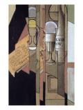 Verres  Journal Et Bouteille De Vin  Collage