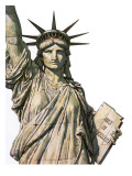 The Statue of Liberty on Bedloe's Island  New York