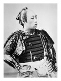 Samurai of Old Japan with Traditional Hairstyle