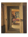 Interior with a Young Girl Writing  1905