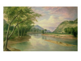 Ohio River Near Marietta  1855