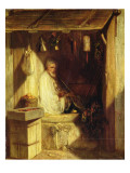 Turkish Merchant Smoking in His Shop  1844