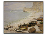 Boats on the Beach at Etretat  1883