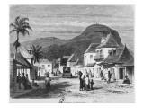 View of Port Louis  Rue Desforges  Mauritius  1861
