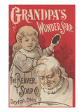 Advertisement for Grandpa's Wonder Soap  C1898