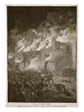 Fall of the Alamo  from a Book Pub 1896