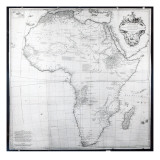 Map of Africa  Engraved by Guillaume Delahaye  1749