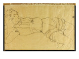 Young Woman Lying on Her Back  1915