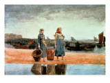 Two Girls on the Beach  Tynemouth  1891